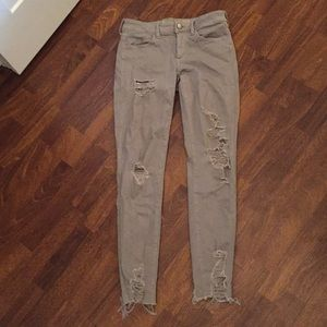 American Eagle Grey Ripped Jeans